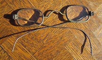 18th CENTURY ANTIQUE EYEGLASSES SPECTACLES BENJAMIN FRANKLIN STYLE W/ CASE