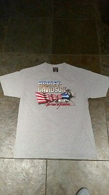 Vintage Harley Davidson The Road to Freedom Tee Shirt 90s 3D Emblem Motorcycle