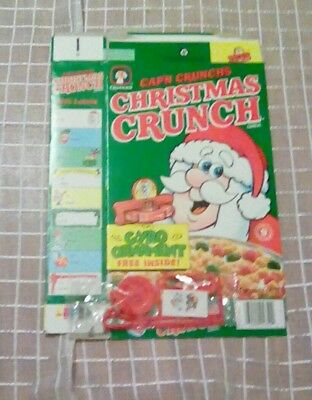 Cap'n Chunch's Christmas Crunch cereal box with Ornament premium
