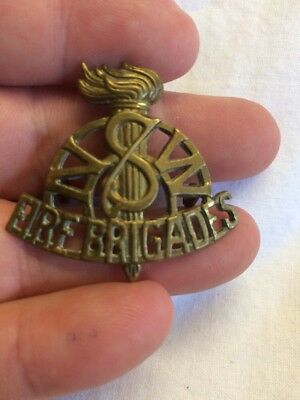 Vintage Early Brass NSW Fire Brigade Hat Badge