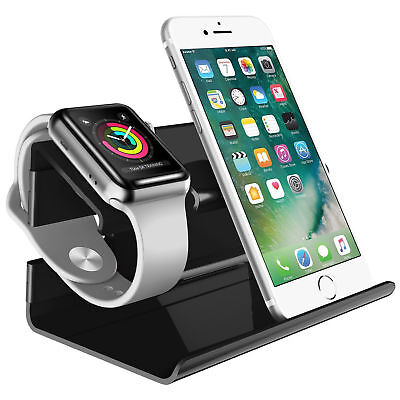Charging Dock Stand Bracket Desktop Holder Cradle For iPhone 7 8 X Apple iWatch