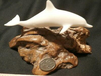 Preowned John Perry Dolphin Sculpture on Driftwood