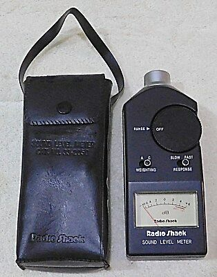 TESTED RadioShack Analog Sound Level Meter DB with Pouch Model 33-4050