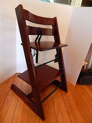 Stokke Tripp Trapp High Chair Classic Walnut Brown Wooden Baby Child