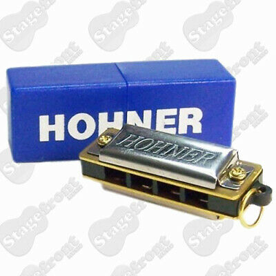Hohner Mini Harp / Harmonica 4 Single Holes And 8 Reeds In The Key Of C