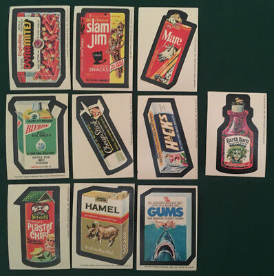 1975 Topps Wacky Packages 15th Series--10 cards--great shape