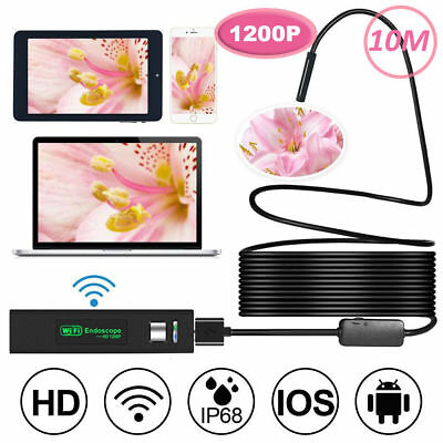 10M Endoscope Wifi Inspection Camera Rigid Cable For Iphone Samsung IOS Android