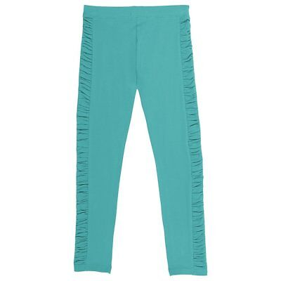 French Toast Little Girls' Legging with Ruched Side Panel Drift Turquoise Size 4
