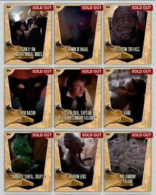 Topps Star Wars Card Trader Mos Eisley Location Yellow Full Set + Award Inc