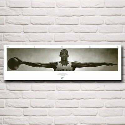 Wings Basketball Star Michael Jordan Art Silk Poster Room Decoration Picture