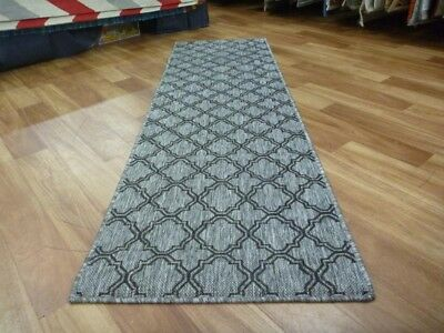 Hall Runner 66x230cm Moroccan Flatweave Gest Silver Light Grey