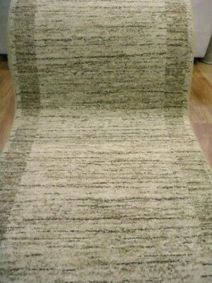 Hall Runner 80cm Wide by the Meter Plain Modern Design Beige Emphasis