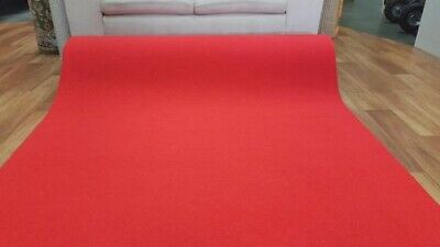 Red Carpet Runner Event Party Wedding Aisle 135CM Wide by the Meter Rubber Backe