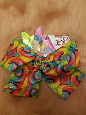 Jojo Siwa LARGE Signature Bow NEW Lollipop Swirl Hair Bow
