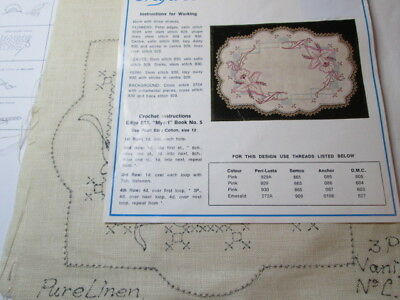 MYART VINTAGE LINEN   Vanity Set  'GRACE AND CHARM' –  ORCHIDS NEW