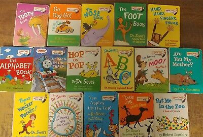 Lot of 16 Dr. Seuss Bright and Early Children Kids Read BOARD Books Ear Eye #C16