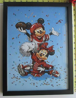 Framed Mickey & Minnie Artwork Made From Genuine Crushed Gemstones of Many Types