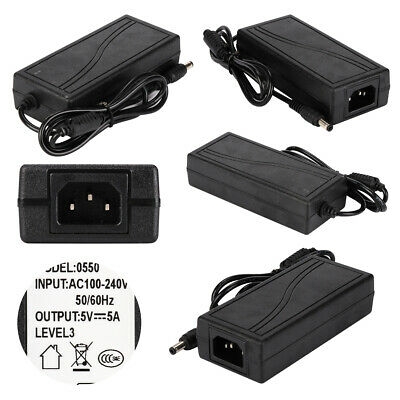 Power Supply Adapter DC 5V 5A To AC110 220V Transformer LED Strip home industyRA