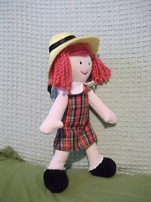 """11"""" Madeline stuffed character doll Kids Preferred tags - clothing not removable"""