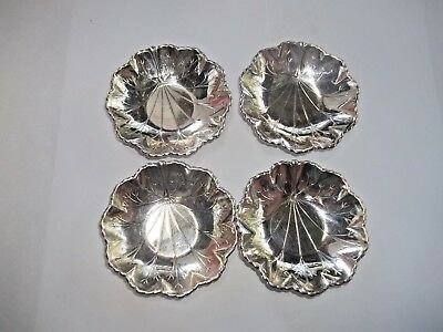 Four Webster Silver Plate E.p.c.a. Trinket Tray Butter Dish