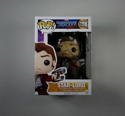 Chris Pratt Guardians of the Galaxy #198 Funko Pop Doll Signed Autographed COA