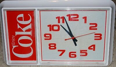 Coca-Cola Clock  1979  working condition