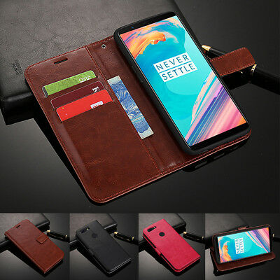 For OnePlus 6T 6 5T 5 3T 3 2 One X Magnetic Slots Wallet Flip Leather Case Cover