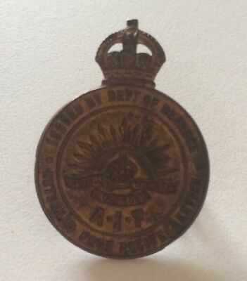 WWI A.I.F Returned From Active Service Badge 121103