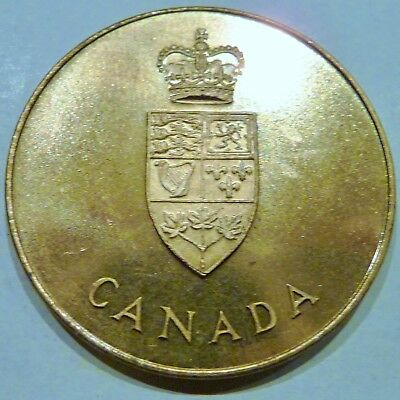One 1867-1967 Canada Confederation Medal 100 Years 31mm Uncirculated in Pouch