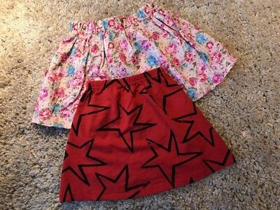 Free Postage! Two Colour Available-New Girl Printed Skirt Size 3-4
