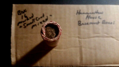Unsearched Wheat Penny Roll With Indian Cents 1895 And 1920 Pennies On Ends