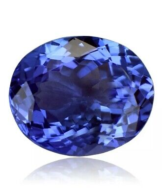4.10 Ct Oval Cut 100% Natural Tanzanite AAAA Violet-Blue Color D-BLOCK