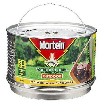 Mortein Mosquito Repellent Incense Coils with metal hanging burner - 30 Pack