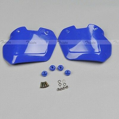 Blue Motorcycle Dirt Bike Handlebar Hand Guards Handguards Mount Universal J01