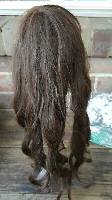 Gorgeous Antique human hair doll wig for your French or German bisque  doll.