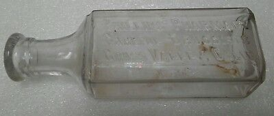 Antique ca 1910 embossed light amethyst Phillips' Pharmacy  Grass Valley, Calif