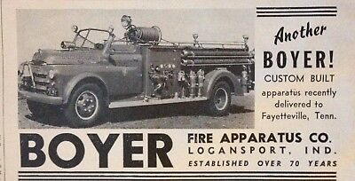 1950 Ad(H1)~Boyer Fire Apparatus Co. Logansport, Ind. Firetrucks