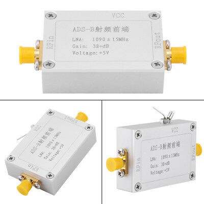 New ADS-B 1090MHz RF Front-end Radio Frequency Low Noise Amplifier 38dB Gain LNA