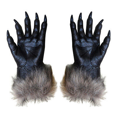 1 Pair Wolf Gloves Halloween Mask animal mask set werewolf Masquerade Wolf F3U3