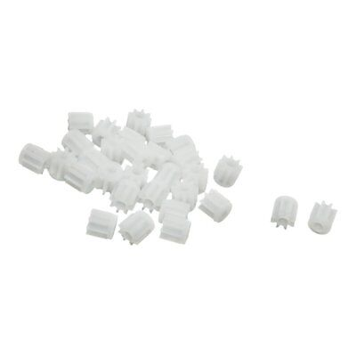 30Pcs 0.5 Modulus 8 Teeth Plastic Gear Cog for 2mm Toy Car Motor Shaft M7B6
