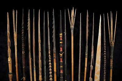 Group of 18 Fine Hunting / Fighting Arrows - New Guinea 1950's