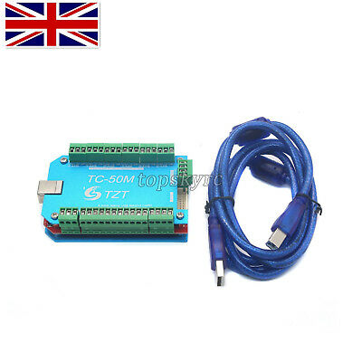 6Axis CNC USB MACH3 Motion Control Board Driver Controller Engraving Machine UK