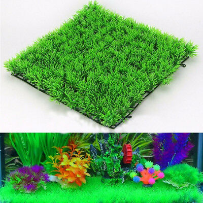 Artificial Fake Water Aquatic Green Grass Landscape Lawn For Aquarium Fish Tank