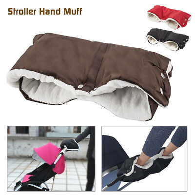 Baby Pram Stroller Warmer Gloves Pushchair Hand Winter Muff Waterproof Accessory