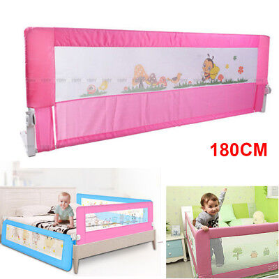 Child Toddler Bed Rail Safety Protection Guard Foldable Pink 180x 64cm New Sale