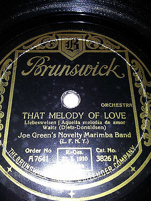 Schellackplatte Brunswick That Melody of love - Mondnacht auf der Donau