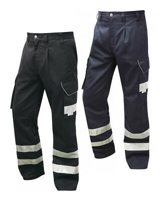 Leo Workwear CT02 Ilfracombe Men Cargo Trouser Polycotton Knee Pad Pockets Pants