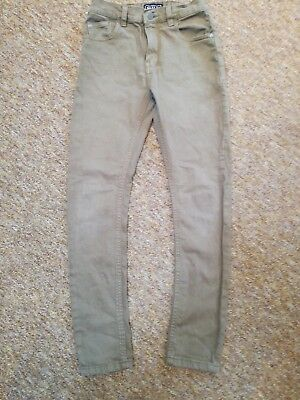 Next boys skinny jeans, light brown, age 10