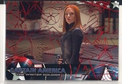 2014 UD Captain America The Winter Soldier Black Widow Red Foil #99/99 RARE #18