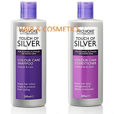 ProVoke Touch of Silver Colour Care Shampoo, Conditioner 200ml -Blonde Hair !!